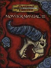 Monster Manual III Dungeons & Dragons d20 3.5 Fantasy Roleplaying Supplement
