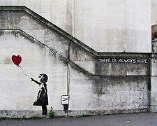 Banksy Girl Red Balloon Street art on canvas Giclee 16 x 20 Print graffiti