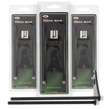 3 x Mini Black Aluminium Snag Ear Bars for Bite Alarms NGT Carp Fishing Trackle