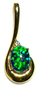 Natural Black Triplet Opal Pendant 4.235 cts With Solid Silver