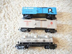 S SCALE AMERICAN FLYER/LIONEL 9701 ROCK ISLAND, 48302 CP & 9105 SOUTHERN TANKER
