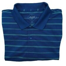 New listing Bonobos Maide Men's XL Blue Stripe Slim Fit Performance Golf Polo Polyester
