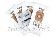 Nilfisk Extreme Vacuum Bags Original 4 Pack + Filter Also Nilfisk King (B10)