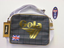 GOLA BORSA CARTELLA SCUOLA REDFORD GB TWEED CUB668 WHITE GOLD BIANCO ORO GRIGIO