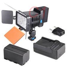 LED-5080 LED Camera Video Light + F750 Battery + Charger For DV Camera Camcorder