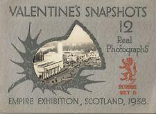 GLASGOW Empire Exhibition 1938 Valentines Snapshots Set B 12 Real Photographs