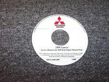 2008 Mitsubishi Lancer Sedan Shop Service Body Repair Manual DVD DE ES GTS 2.0L