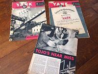 2 1/2 YANK magazine The US ARMY Weekly nov & dec 1945, WWII Pin-Up Girls,