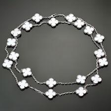 VAN CLEEF & ARPELS Vintage Alhambra 20-Motif Mother-Of-Pearl Necklace Papers