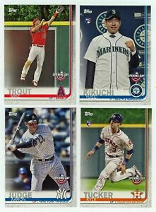 2019 Topps Opening Day Baseball Complete Mint 200 Card Set Stars and ROOKIES