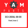 3C3-2836L-00-00 Yamaha Panel, inner 2 3C32836L0000, New Genuine OEM Part