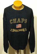 men's CHAPS RALPH LAUREN spell out sweater USA FLAG - size XL - U.S. flag US