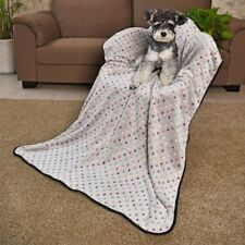 Blanket Pet Dog Fleece Fabric Soft and Cute Warm Blanket washable for Sofa Bath