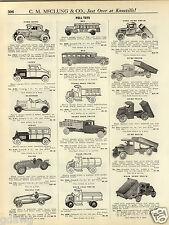 1931 PAPER AD Steelcraft Pedal Car Cars Airplane Keystone Toy Trucks Mack Dump +