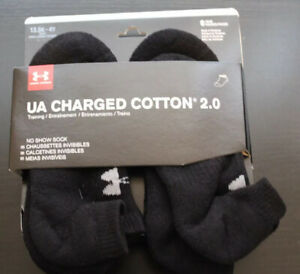 Under Armour Youth No Show Black Socks Boys 6 Pairs