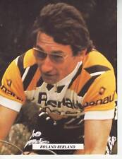 CYCLISME carte cycliste ROLAND BERLAND équipe RENAULT GITANE 1978