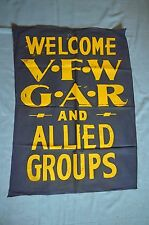 """""""Welcome V.F.W. G.A.R. and Allied Groups"""" Banner"""