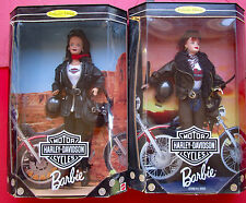 2 Harley Davidson Limited Edition Barbies; Redhead #2 Brunette #3 ready to ride