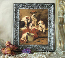 Emms FOX HOUND Dog Hunting Horse Pony Print Styl Framed 11x13 BUCKET