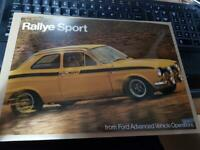 FORD - ESCORT mk1 RS MEXICO - SINGLE PAGE SHEET SALES LEAFLET 1970s RARE