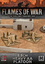 Flames of War Entièrement neuf dans sa boîte 8.8 cm Heavy AA Peloton (plastique) GBX98