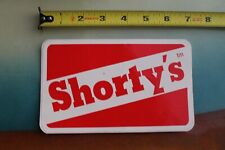 Shortys Skateboards Chad Muska 90's Red Logo Z17 Vintage Skateboarding Sticker