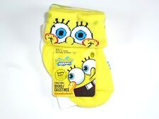 NEW 6 PAIRS BOYS GIRLS SPONGEBOB SQUAREPANT NON SKID SOCKS SIZE 12-18M NS2