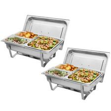 2Pack Stainless Steel Chafer Chafing Dish Sets 9L Praty Buffet 2020