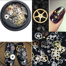 Women Gear Wheel 3D Nail Art Decoration Alloy Tips Rock Machine Metal Studs