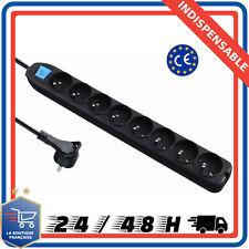 Bloc 8 Prises Electrique Multiprise Avec Interrupteur Cable 1,5 Bureau Cuisine