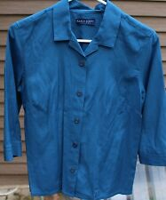 Women's Dark Teal Shirt by Karen Scott Petites; Size:  PS