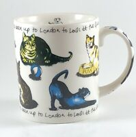 PAUL CARDEW Porcelain Pussy Cat Nursery Rhyme 10 oz Coffee Tea Mug Cup