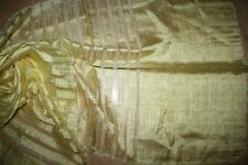 Großer Schal Stola Gelb Quer Gestreift Gewebt 70% Seide Fransen 56 x 176 cm Neu!