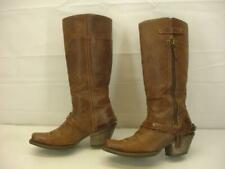 Women's 6.5 B M Ariat Wildflower Cowgirl Boots Square Toe Brown Leather Harness