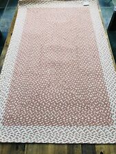 Jute Rectangle Braided Eco Rug ROSE pink white 92x152cm The Braided Rug Company