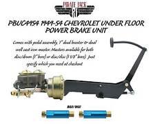 1949-1954 Chevy Frame Mount Power Brake Pedal Assembly Designed for Disc Disc