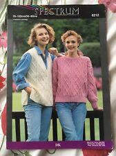 Ladies Jumper And Waistcoat Knitting Pattern