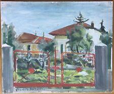 Tableau Peinture par ELISABETH Didierjean La Barrière.Active À Nice 1950 1960