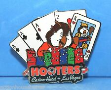 HOOTERS RESTAURANT CASINO HOTEL LAS VEGAS NV HOOTIES 3 OF A KIND ACES HIGH PIN