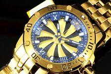 25851 Invicta Speedway 52mm Turbine Automatic Blue Dial Gold Tone Bracelet Watch