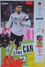EMRE CAN - A3 Poster (ca. 42 x 28 cm) - Fußball WM 2018 Clippings Sammlung NEU
