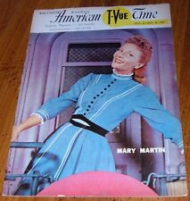 1957 BALTIMORE TVUE GUIDE~MARY MARTIN ANNIE GET YOUR GUN~BETH HOLLINGER