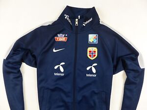MEN'S NIKE NAVY BLUE TEAM NORWAY CROSS COUNTRY SKIING JACKET SIZE: SMALL (S)