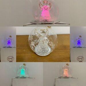Sorelle Color Changing Lights Glass Angel Star Globe Ornament  520-243 Video