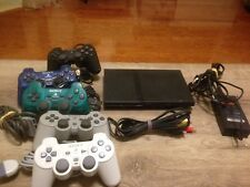 SONY  PS2 Playstation 2  SLIM CONSOLE + 2 Controllers Free Shipping!!