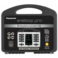 Panasonic Eneloop Pro Rechargeable Battery Charger AA 8 Pack AAA 2 Pack New
