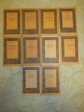 Lot Of 10 Antique Books Of Benn's Sixpenny Library - 1927 - 1928