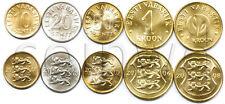 Estonia 5 coins set 1998-2010 UNC (#1692)