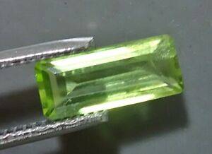 VVS 4.00 Ct Certified Natural Rare Peridot Pakistan Gemstone ~ Emerald Cut