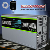 2000W/4000W Pure Sine Wave Power Inverter 12V To 240V Solar Converter LCD Remote